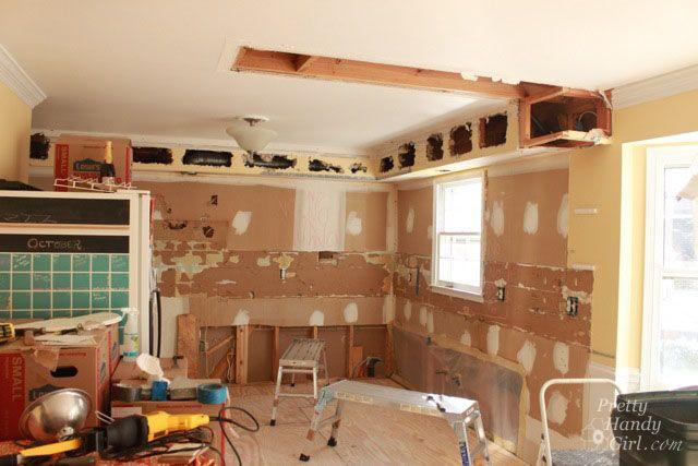 Big Plans Little Budget Soffit B Gone: How To Remove A Soffit - Kitchen Renovation Update