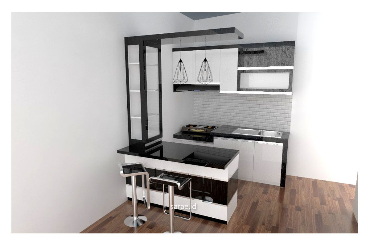 Minimalist Modern Kitchen Design With Mini Bar Homyracks