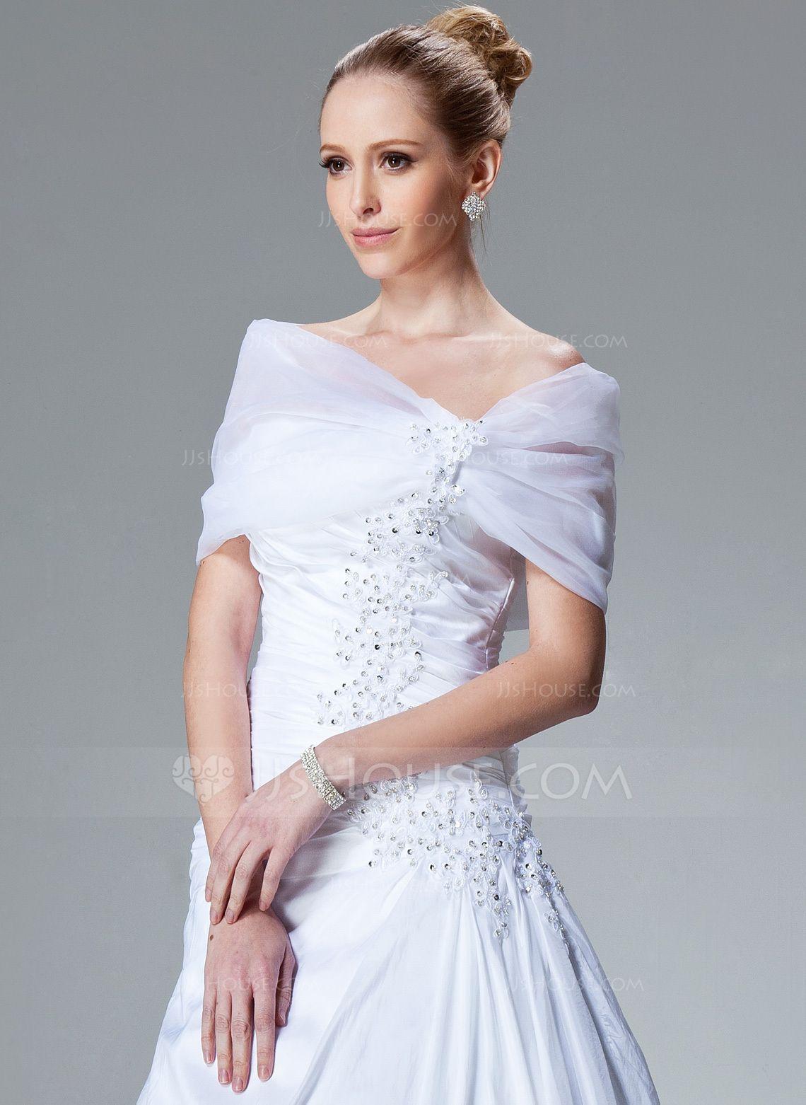 7a1f5421e8eb Organza Wedding Wrap (013004167) - Wraps - JJsHouse