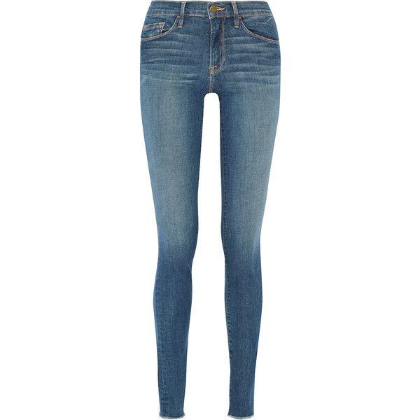 Frame - Forever Karlie Mid-rise Skinny Jeans ($92) ❤ liked on ...