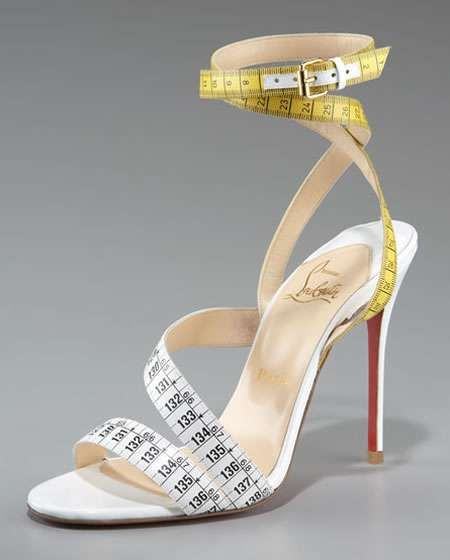 abf38f8d42df The Dazzling Christian Louboutin Measuring Tape Sandals  summershoes   sandals trendhunter.com