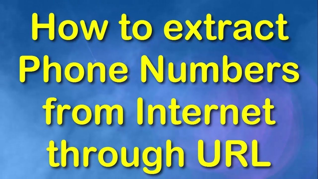 How to extract phone number from multiple websites