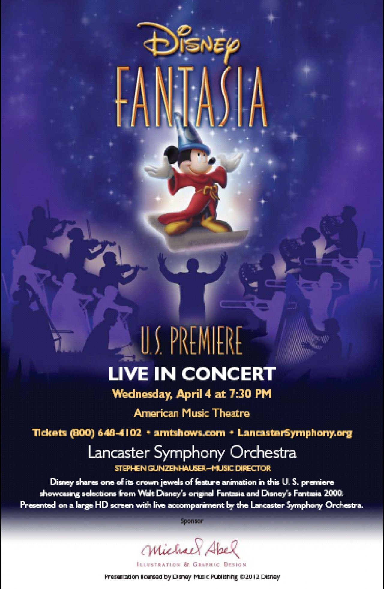 Lancaster symphony orchestra premieres live fantasia at