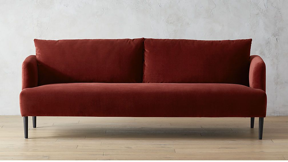 Ronan Wine Sofa Cb2 Modern Sofa Sofa Burgundy Couch