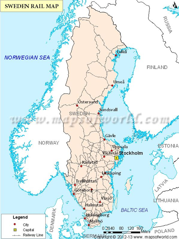 Rail network map of sweden interesting maps pinterest city rail network map of sweden gumiabroncs Images