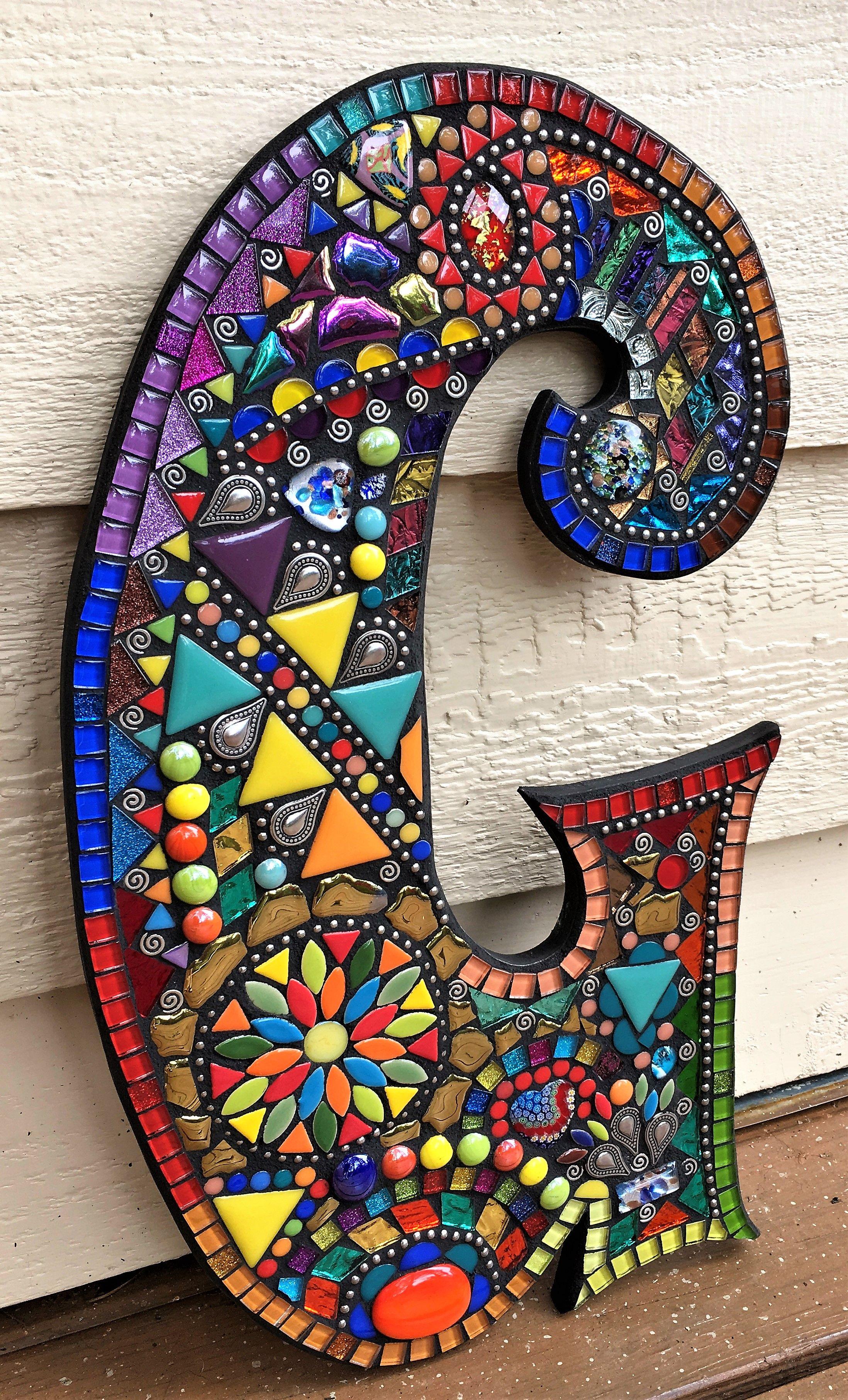 Custom Mosaic Letters By Tina Wise Crackin Mosaics Mosaic Art