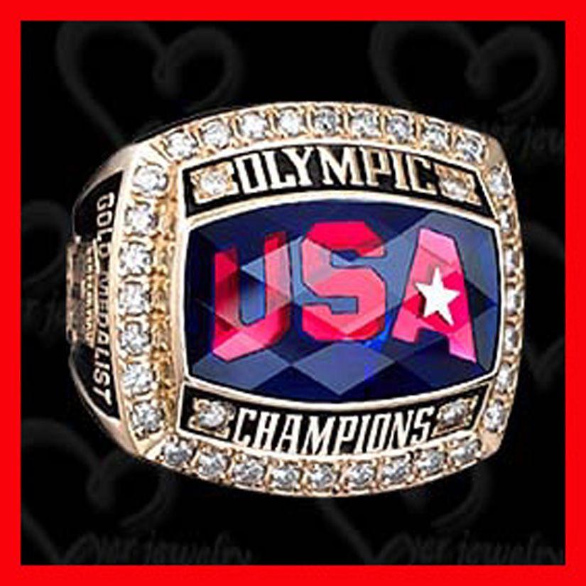Byer Custom Usa Olympic Hockey Championship Replica Ring Championship Rings Olympic Hockey Rings