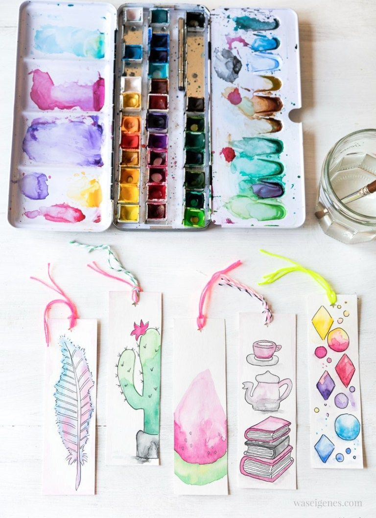 Photo of DIY Aquarell Lesezeichen