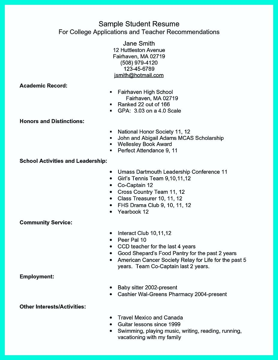 Pin on resume template in 2018 | Pinterest | Student resume, Resume ...