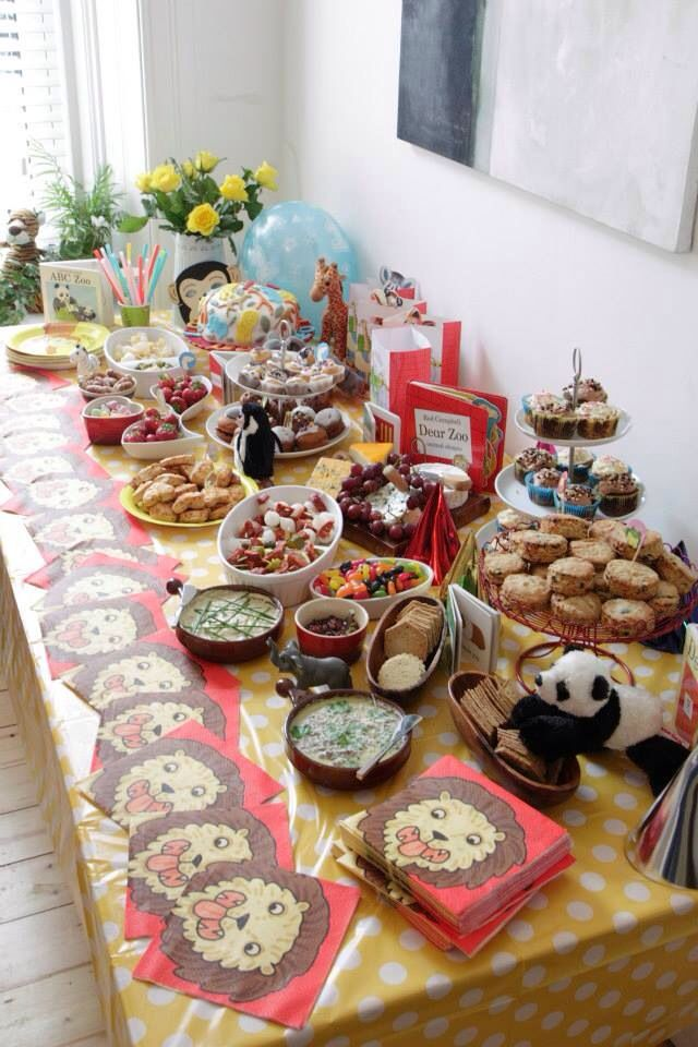 Dear Zoo table My Birthday parties and cakes Pinterest Dear