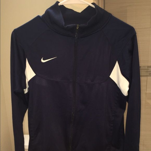 Navy Blue Zip Up Nike Soccer Jacket!! This is a navy blue