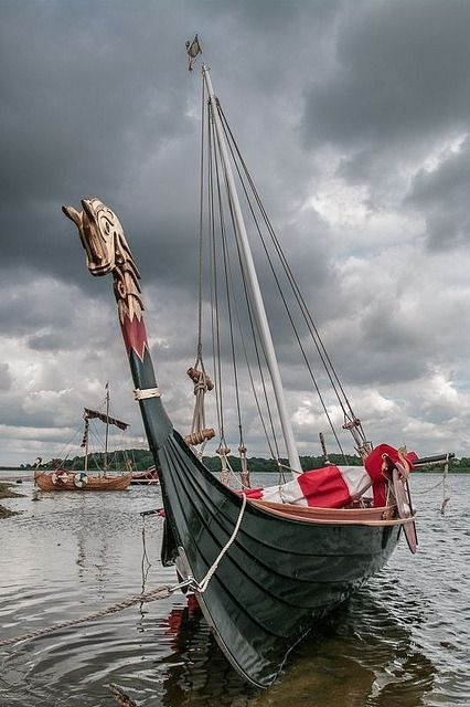 Willkommen-in-germany: Viking ship at Haithabu (German) / Hedeby (Danish). The town wasan importan... - #(Danish). #german #Haithabu #Hedeby #importan... #Viking #wasan #willkommen-in-germany: