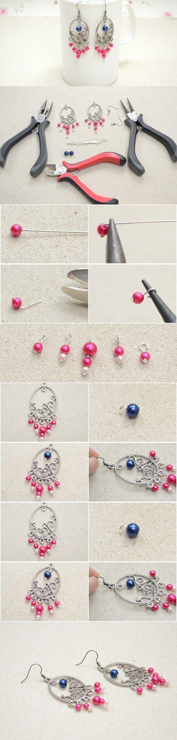 Diy pearl beaded chandelier earrings dangle earrings pinterest diy pearl beaded chandelier earrings arubaitofo Image collections