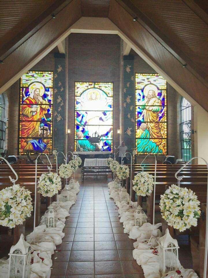 Church Flower Set Up At Caleruega Church Nasugbu Batangas