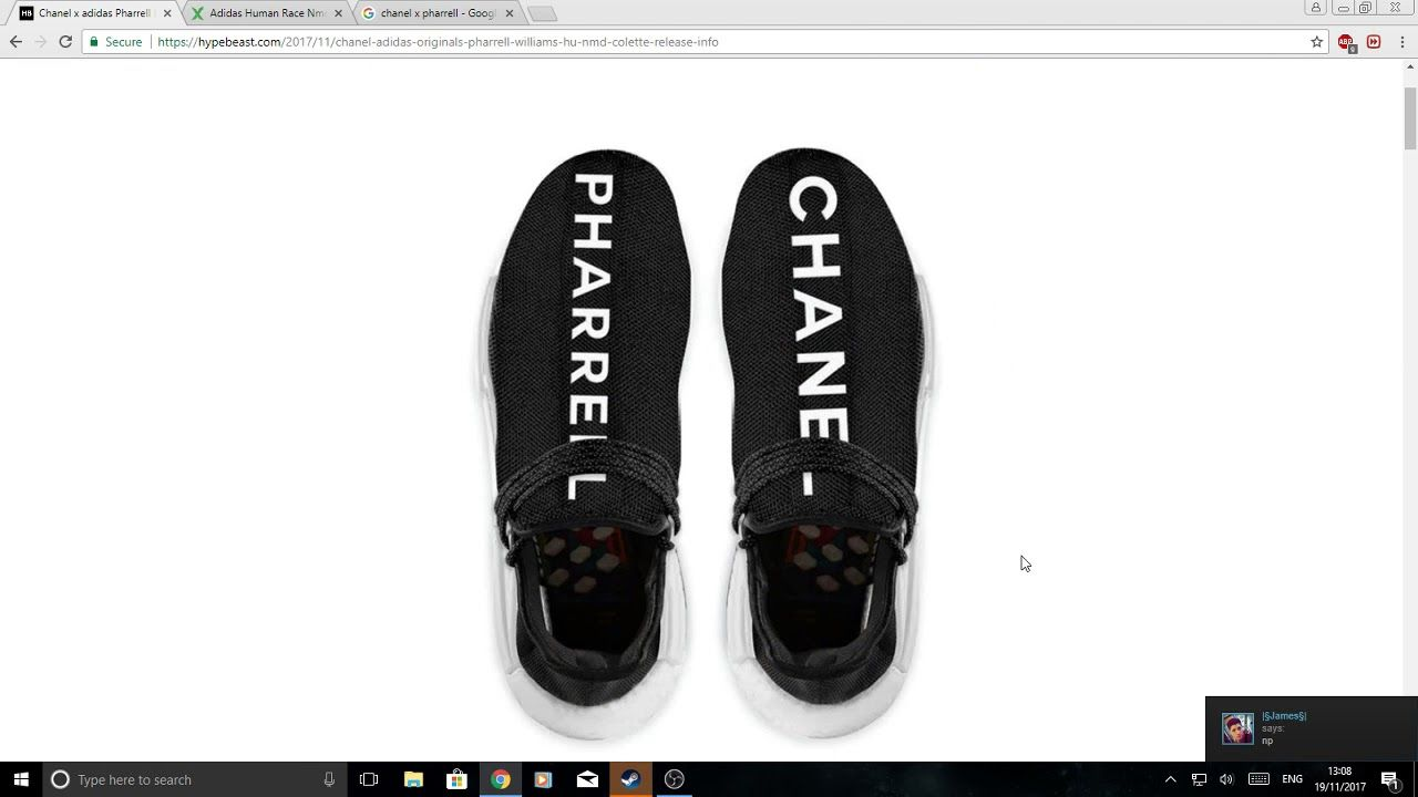 386ab73d94d0c HOW TO COP THE CHANEL X PHARELL HR NMD 1K RETAIL  https   youtu.be ...