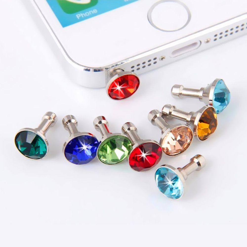 10 stücke Bling Diamant Staub-stecker Universalität 3,5mm Handy ...
