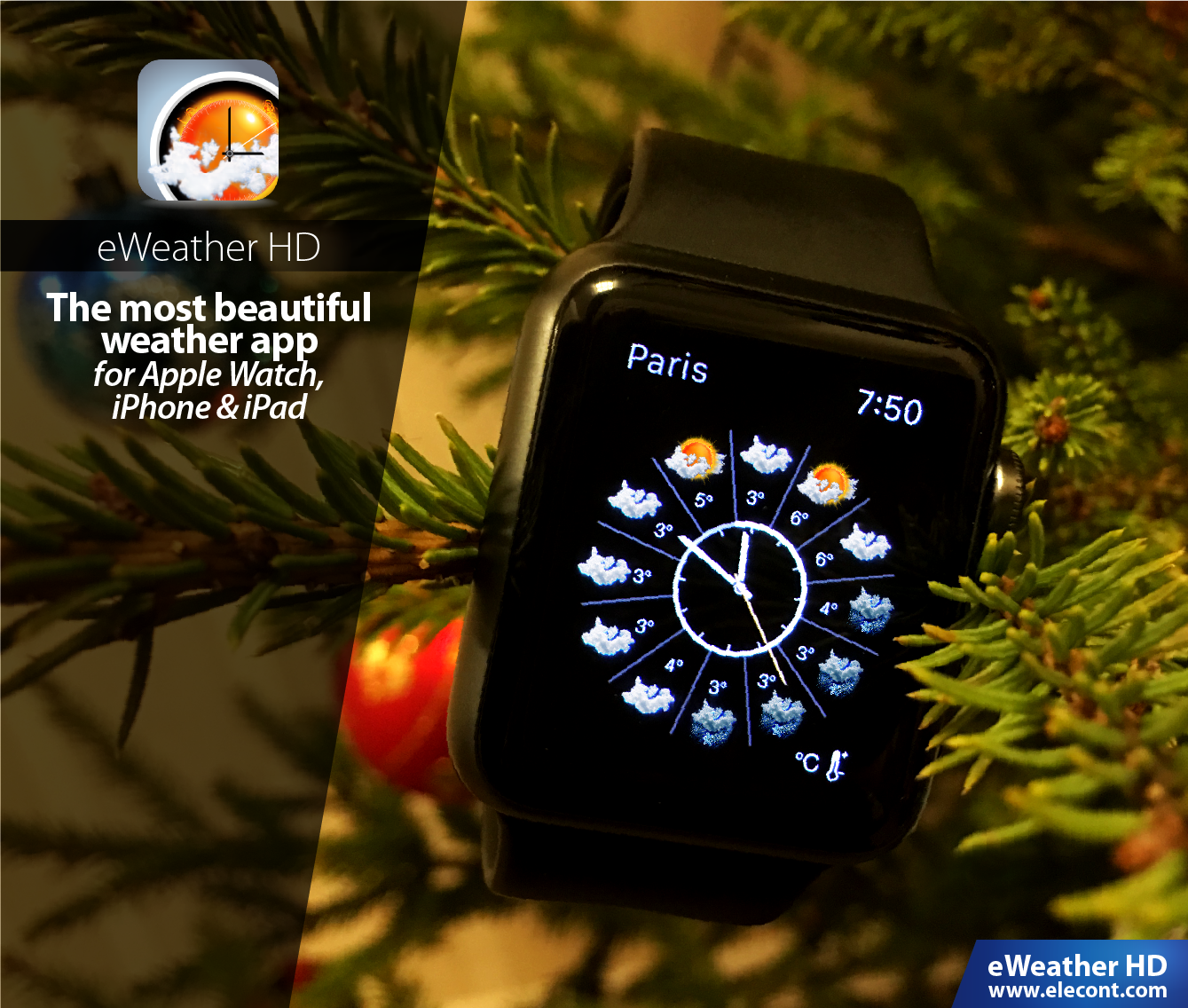 Beautiful weather app for Apple Watch, iPhone and iPad