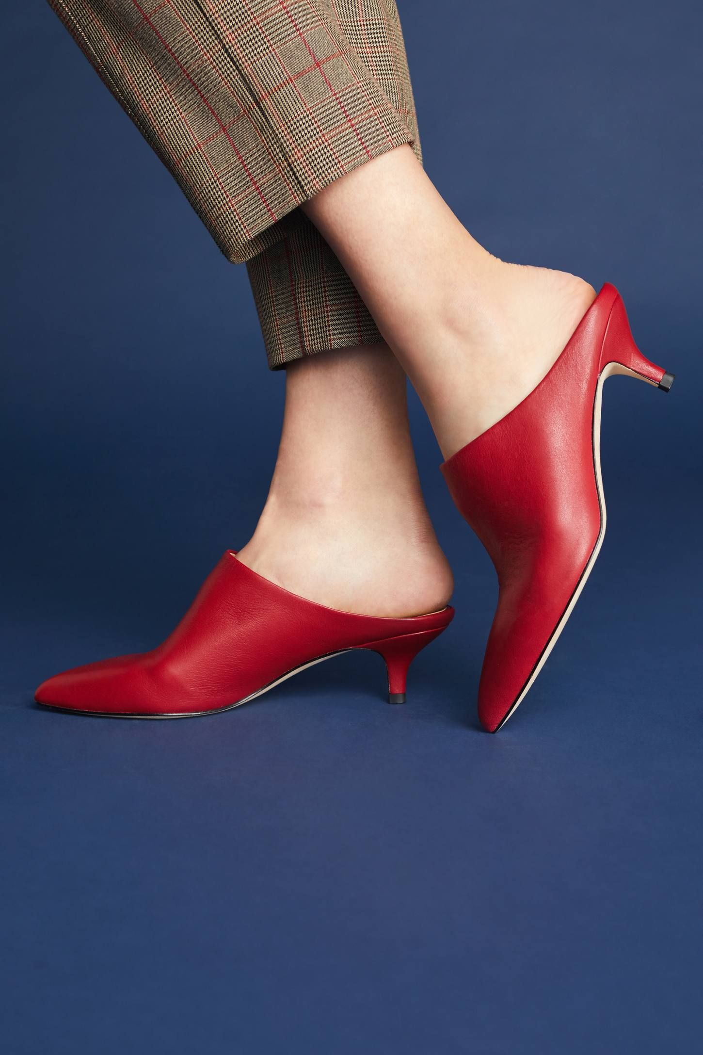 Shop The Pour La Victoire Korrine Kitten Heeled Mules And More Anthropologie At Anthropologie Today Read Custo Italian Sandals Women Kitten Heels Heeled Mules