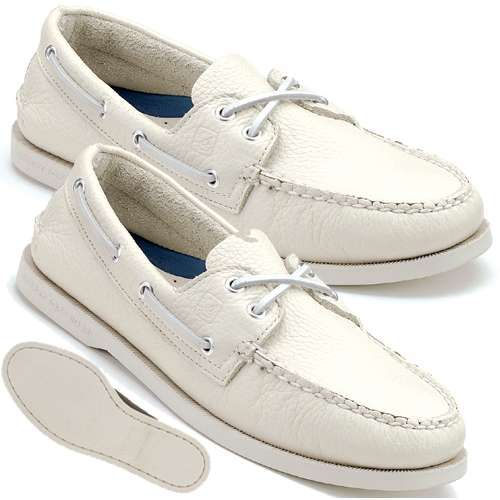 White Sperry Boat Shoes | my shoe addiction | Pinterest | White ...