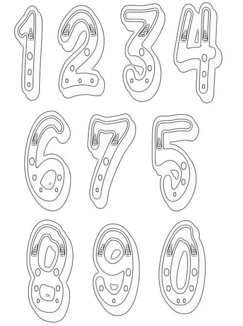 numbers clipart image 13 Scrapbooking Pinterest Numbers - numbers templates free