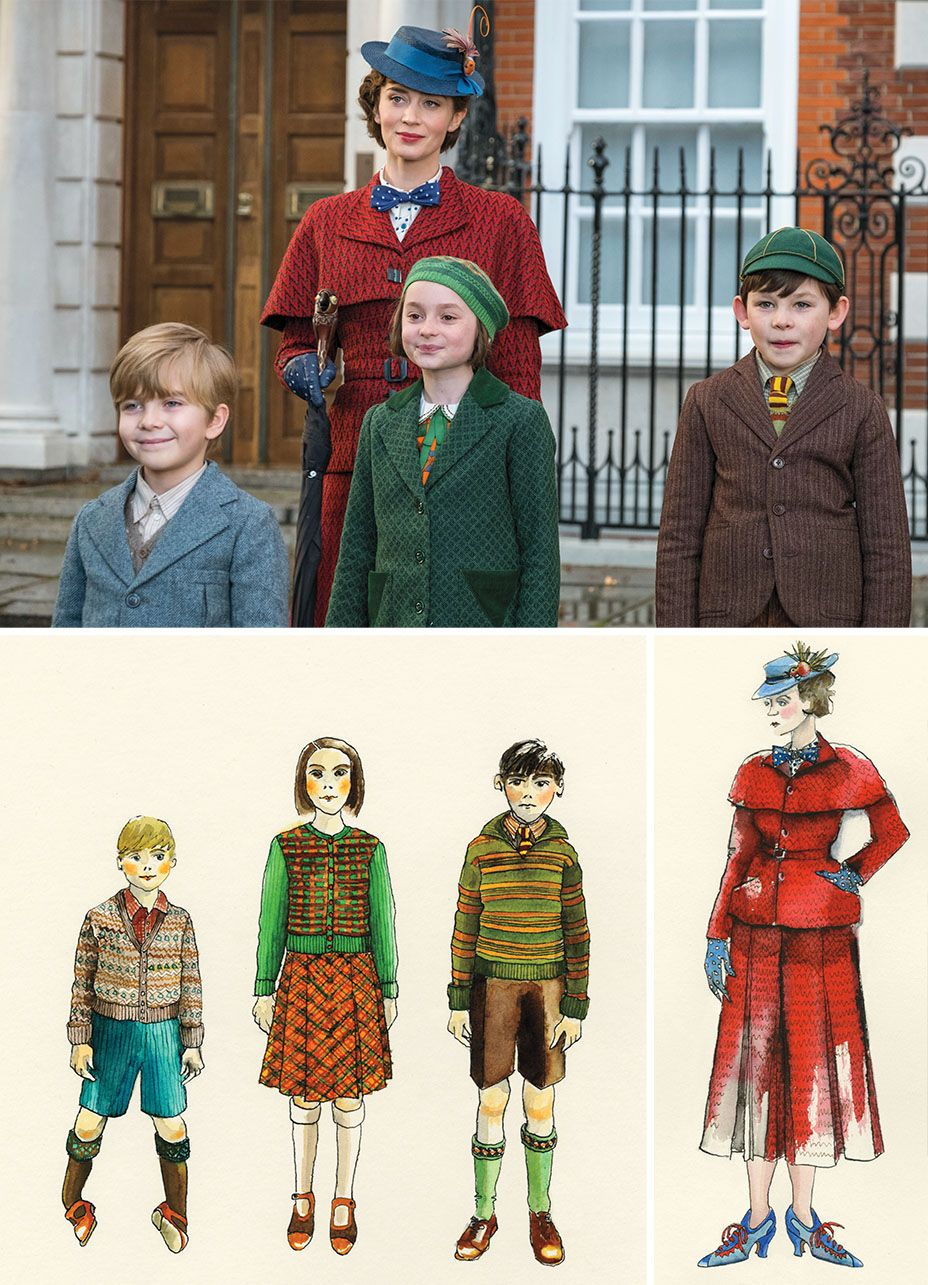 Mary Poppins Returns Costume Designer Created 448 Original Looks For The Characters Mary Poppins Costume Mary Poppins Mary Poppins Party