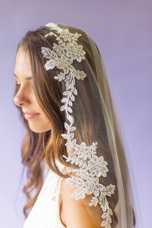 Soft Lace Wedding Veil Lace Weddings Wedding Veils Wedding