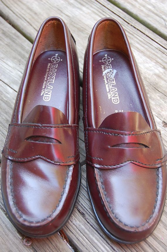 cda1c2f5fc6 Vintage 80s Eastland Classic Preppy Penny Loafers Shoes Excellent Condition  by MaidenhairVintage
