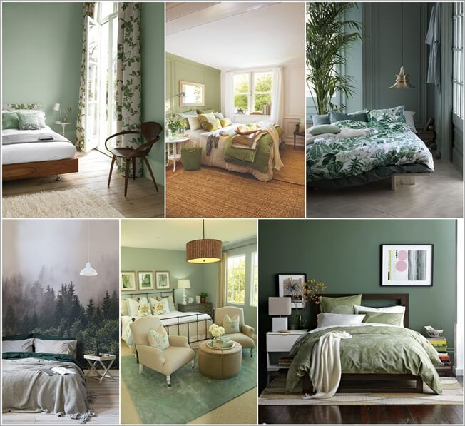 26 Relaxing Green Living Room Ideas: Calm And Chic Green Bedroom Inspirations In 2019