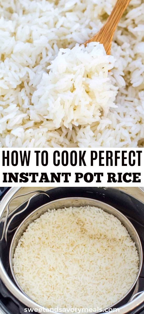 How to Cook Perfect Rice in the Instant Pot #ricecookermeals
