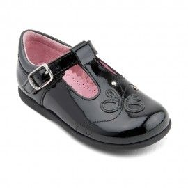 Toddler Kids Baby Girls Patent Leather Cute First Walk Buckle Strap Crib Shoes