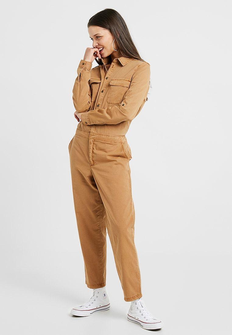 a1f83ab7f619 Vero Moda Petite VMKASSANDRA WORKER - Overall   Jumpsuit  Buksedragter -  tobacco brown - Zalando