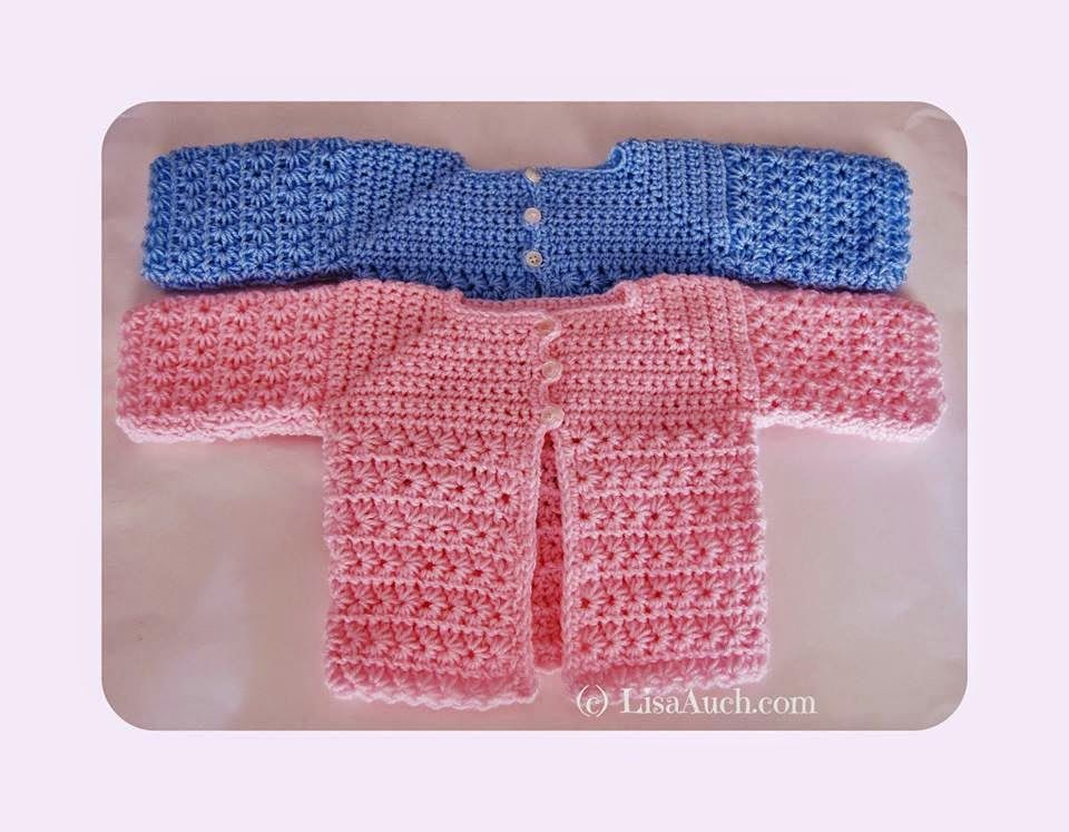 Free Crochet Pattern Baby Cardigan A Star Is Born Crochet For The