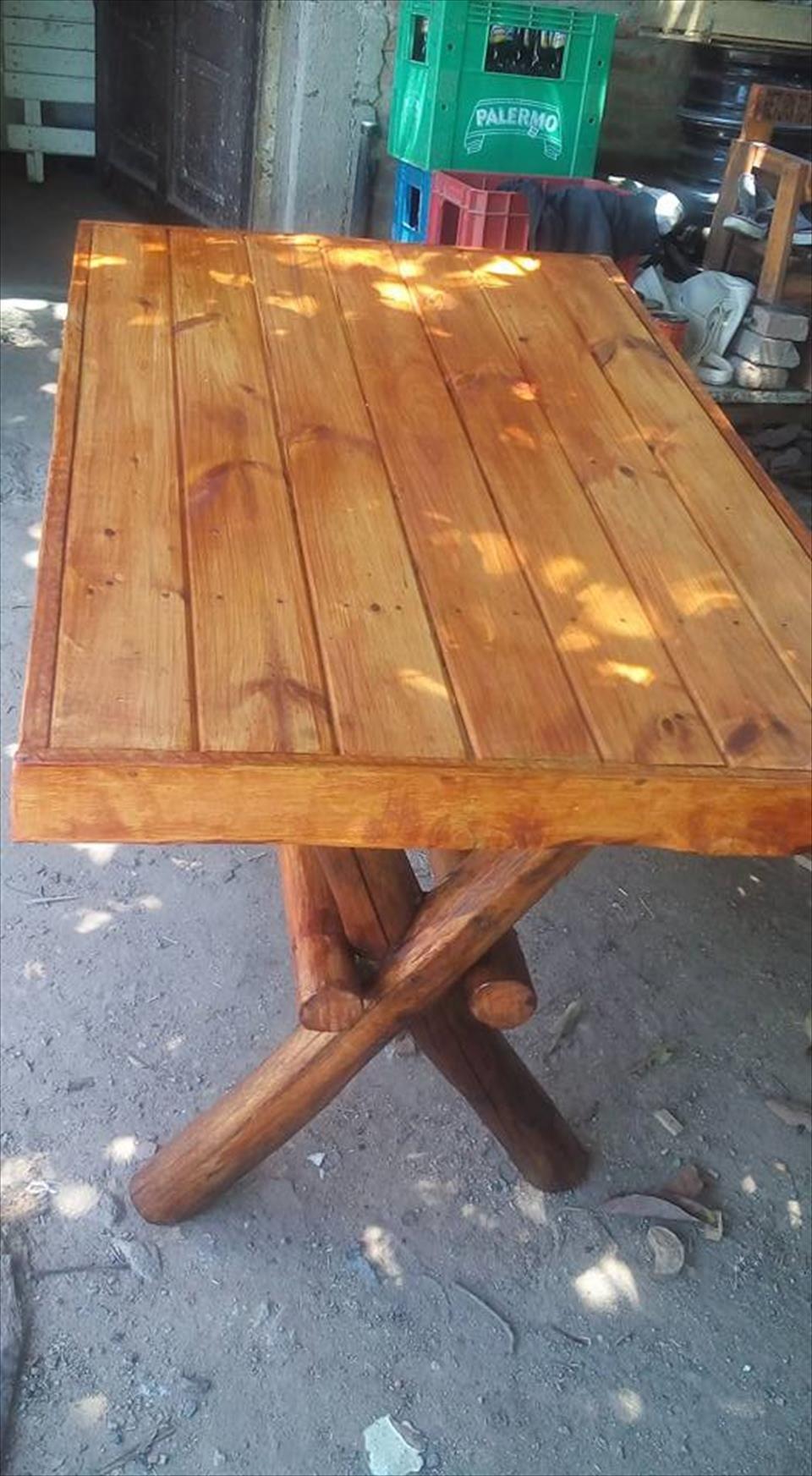Pallets Wood Outdoor Dining Set Diy Furniture