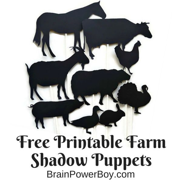 Farm books for toddlers and preschoolers farm animal for Free shadow puppet templates
