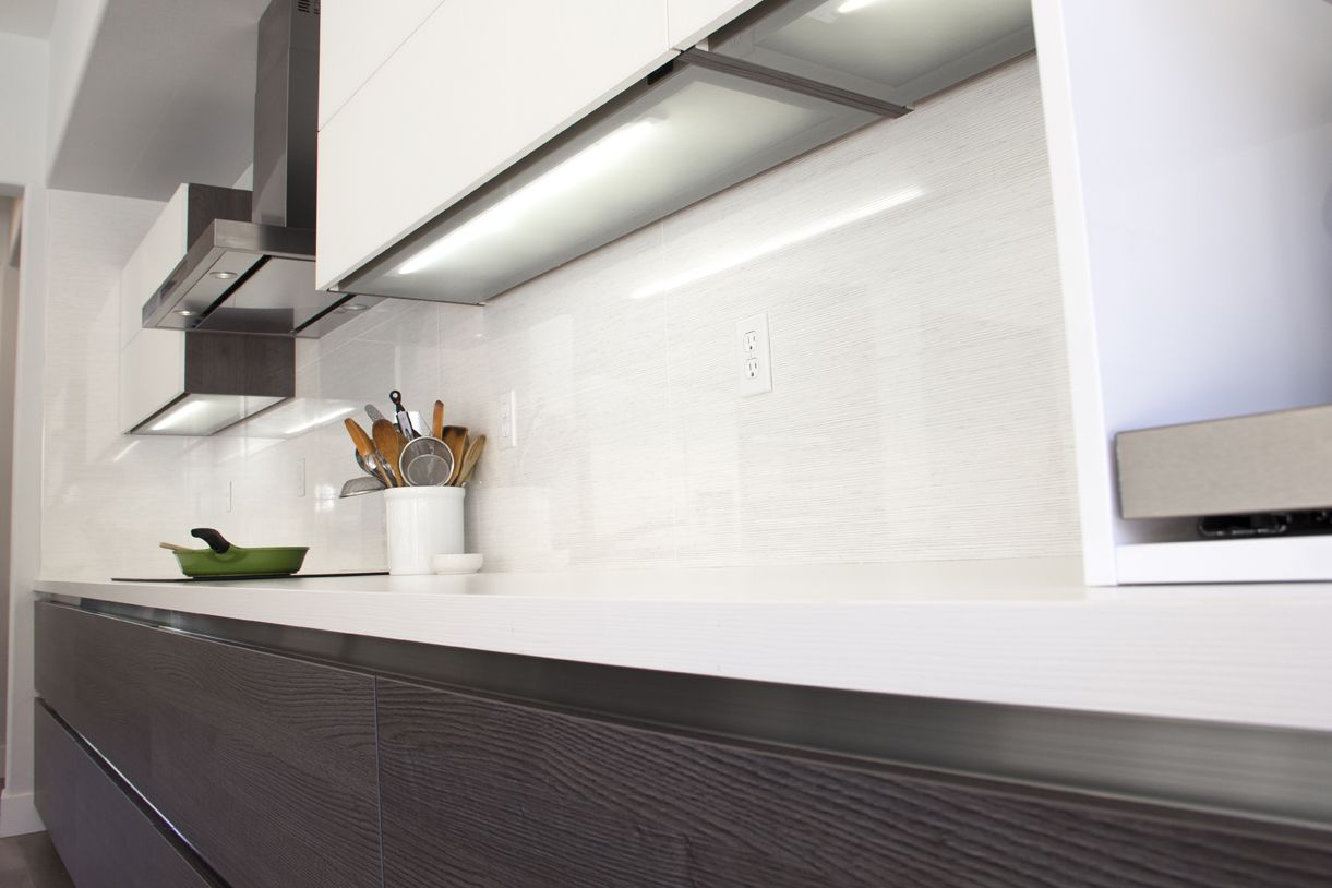 Simi Valley Project | Bauformat | Germany Kitchen Cabinet | Bali 125 Rift  Anthracite Oak | · Glass CountertopsBathroomSimi ValleyInteriorsLos ...