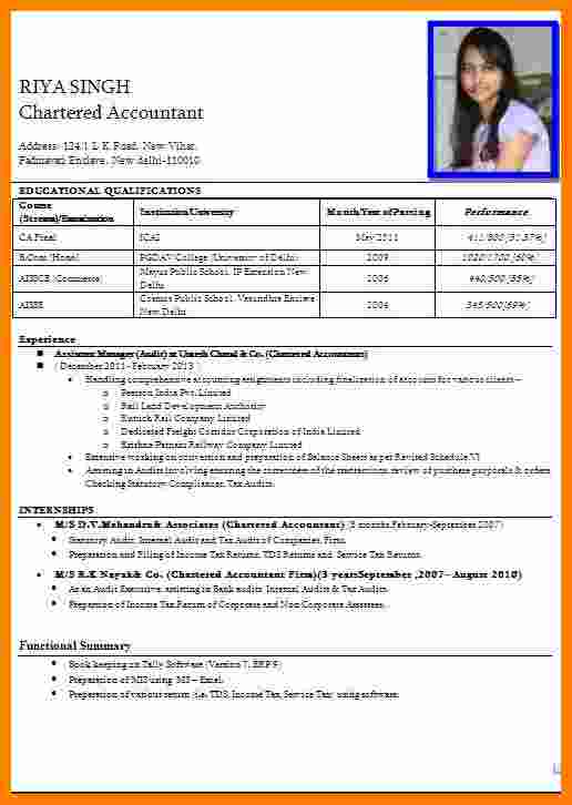 5+ Cv formT for apply job in bank Simple resume format