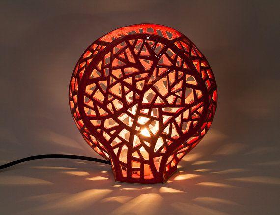 ornamental lighting definition. red coral lamp, ceramic night light, mood romantic decorative ornamental lighting definition