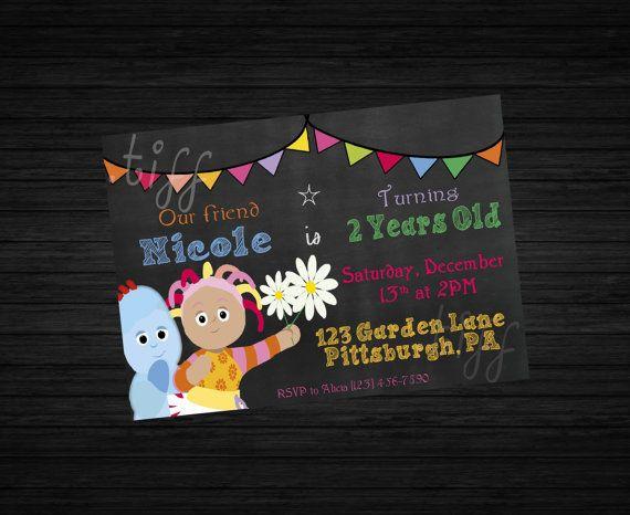 In The Night Garden Birthday Invitation Garden Birthday Birthday Invitations Night Garden