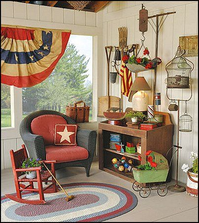 Superior Primitive Americana Decorating Style   Folk Art   Heartland Decor   Rustic  Americana Home Decor   Colonial U0026 Country Style Decorating Americana Bedroom  ...
