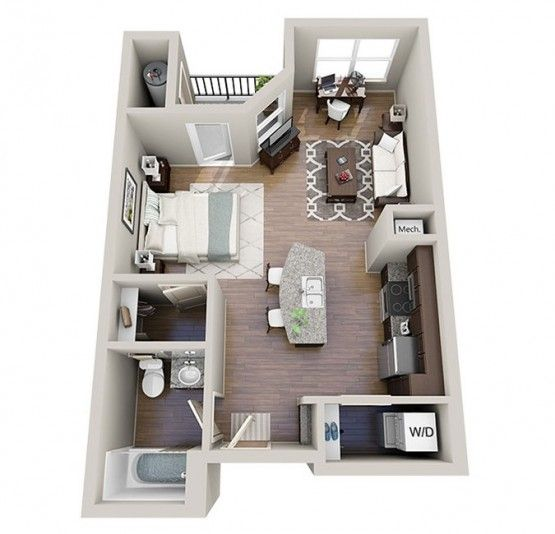 the best studio apartment layouts in 2019 | Studio apartment ...