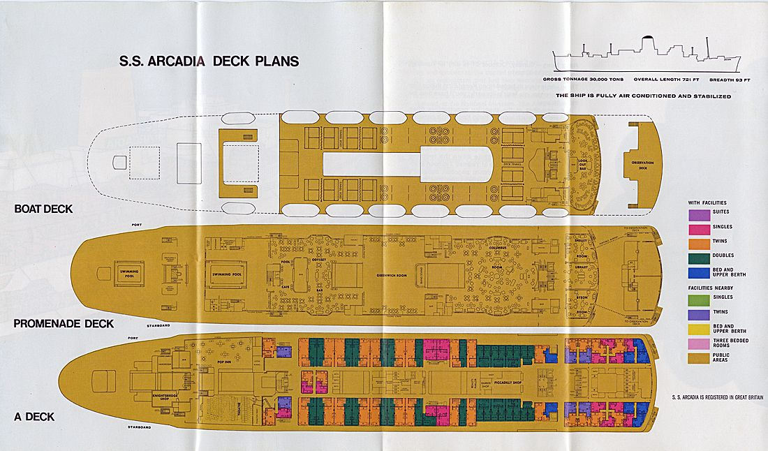 P O Orient Lines Deck Plans How To Plan Pacific Cruise