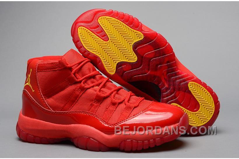 "newest 6ddec 38e3e Air Jordan 11 (XI) Retro ""Red October"" Red Varsity Maize For Sale, Price  -  Air Jordan Shoes, New Jordan Shoes, Michael Jordan Shoes"