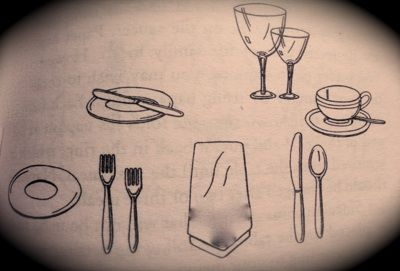 etiquette proper table setting- informal three course dinner | place ...