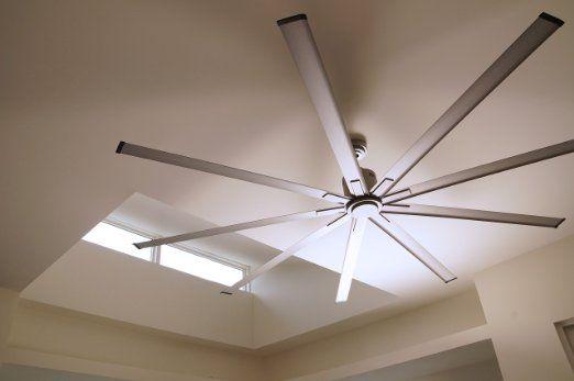 Amazon Com Big Air Icf96ups Industrial Ceiling Fan 96 Inch Silver Home Improvement Industrial Ceiling Fan Ceiling Fan Living Room Ceiling Fan