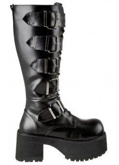 RANGER FOUR Black Ankle Boots Shoes