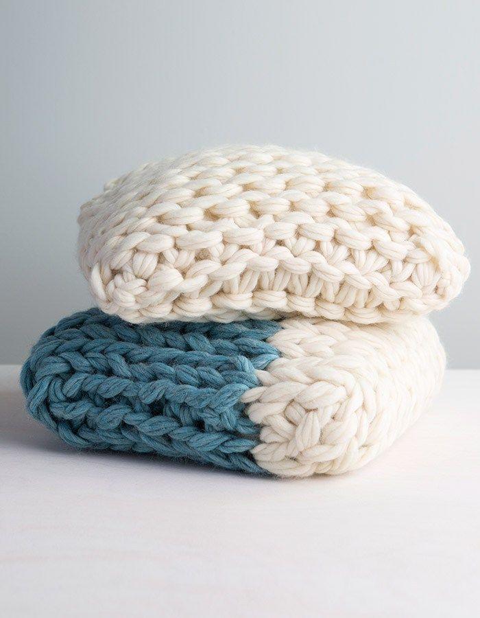 Arm Knit Throw Pillow Video Class   Lana, Tejido y Puntos