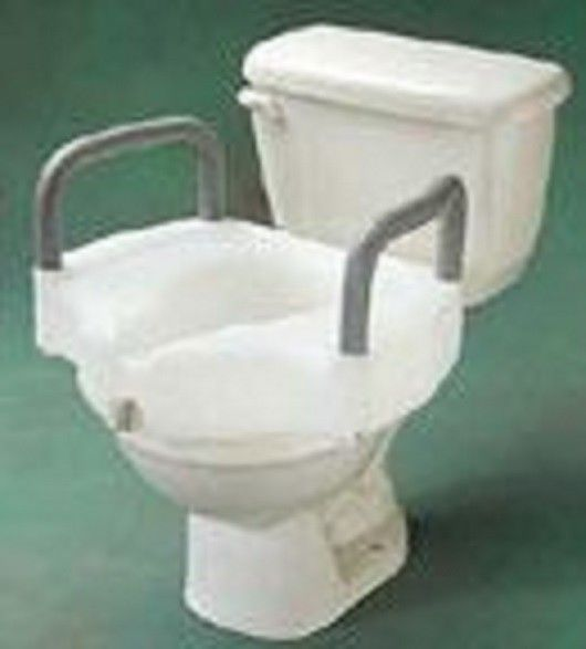 Locking 5 Elevated Toilet Seat With Arms Medline With Images Toilet Seat Toilet Seating