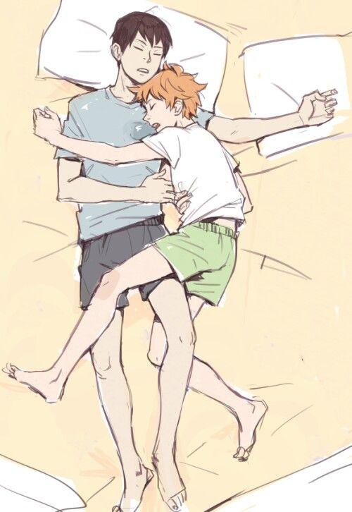 Sleepy cuddling~ ♡ KageHina | Haikyuu | Haikyuu, Kagehina, Haikyuu yaoi