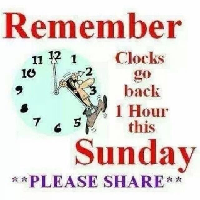 Usa Canada Clocks Go Back 1 Hour On Nov 2 2014 Daylight Savings Time 2014 Ends And Clocks Are Set Back One Hour Clocks Go Back Clock Daylight Savings Time