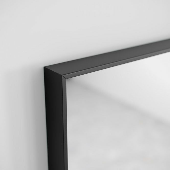 Lusso Luxe Mirror with Slimline Matte Black Metal Frame ...